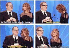 Jennifer when she read the lines for Harvey and later realize it ahaha.you should watch the video guys she is so funny.she should host the next Oscars! Hunger Games Pin, Hunger Games Cast, Hunger Games Humor, Jennifer Lawrence Funny, Jennifer Lawrence Hunger Games, Jenifer Lawrance, Josh And Jennifer, Funny Celebrities, Fangirl Problems