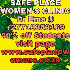 Safe Place Women – Medical Abortion Mafikeng, South Africa - Women's health clinic we're based in mafikeng cbd, gaborone, botswana we offer affordable price to enable more women to access our services Women's Health Clinic, Safe Place, Pills, South Africa, Medical, Free Delivery, Cleaning, Link, Medicine