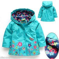 Dropshipping Девушки Длинные рукава Ветрозащита Девушка Цветочный Водонепроницаемый куртка малыш дети ANORAK