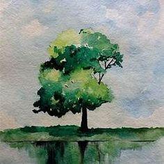 Easy Watercolor Paintings Trees