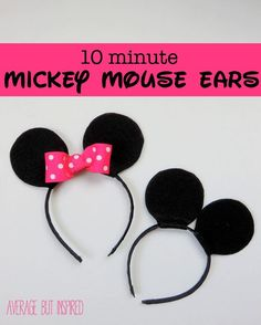 Learn how to make your own Mickey or Minnie Mouse ears in 10 minutes or less!