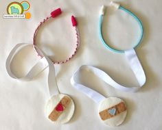 {DIY} tutorial to make felt stethoscopes...since Parker thinks all of his stuffed animals need stethoscope!