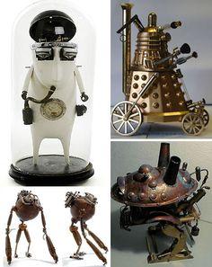 Retro Robot Art: Pseudo-Victorian