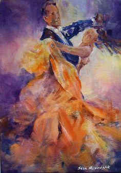 Ballroom Dancers - Gallery of Dance Paintings by Woking Surrey Artist Sera Knight