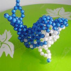 Creative beadwork Dolphin 2PCS Children's toy Car Showcase Artistic Decor