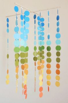 Baby diy mobile paint chips ideas for 2019 Paint Chip Mobile, Paint Chip Art, Diy Mobile, Mobile Baby, Baby Nursery Diy, Diy Baby, Nursery Ideas, Baby Room, Nursery Art