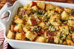 How To Make the Very Best Thanksgiving Stuffing — Cooking Lessons from The Kitchn #recipes #food #kitchen
