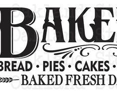 """PLANTILLA primitiva ** pan panadería pasteles pasteles pasteles ** 12 """"x 24"""" para muestras de pintura, lona, tela, madera, aerógrafo, cocina, granja, Vintage"""