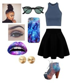 """""""Galaxy!"""" by grier-kiara906 on Polyvore featuring beauty, Jeffrey Campbell, Topshop, Ray-Ban and Eddie Borgo"""