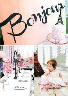 Gorgeous and chic Vintage Parisian First Birthday Soirée by @A Charming Fête via @Hostess with the Mostess
