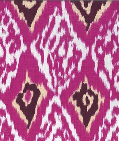 Living room - Ottoman upholstery fabric option: Ashbury Ikat, Hot Pink