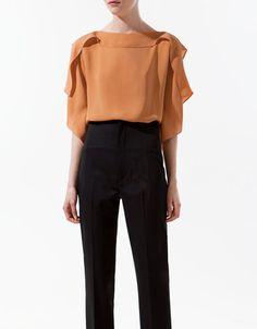 TOP WITH FILLED COLLAR - Shirts - Woman - ZARA Canada