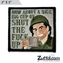 Cup of... Morale Patch - Full Color - Express your individuality with our collection of Morale Patches, Embroidered Patches, Velcro Morale Patches, Tactical Morale Patches, Military Morale Patches, and Humorous Morale Patches! Put them on all of your gear: Hats, Jacket, Fleece, Vests, and Backpacks! Get it at http://zuffel.com/collections/morale-patches/products/cup-of-full-color