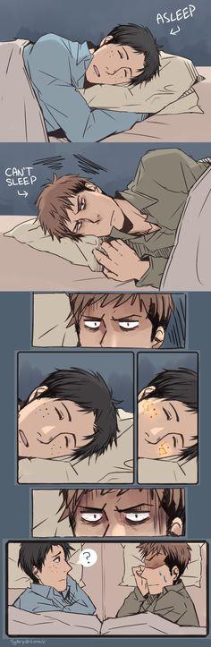 Case with Marco's Freckles by Sydur.deviantart.com on @deviantART Jean , Marco  Shingeki no Kyojin Attack on Titan SnK AoT