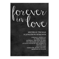 Wedding Invitation | Mod Pen Chalkboard