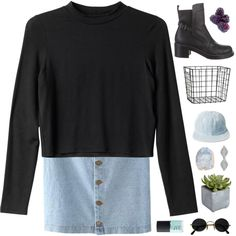 A fashion look from October 2015 featuring Monki sweaters and Balenciaga boots. Browse and shop related looks.