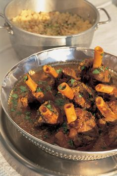 Aromatic Lamb Shank Stew Nigella Lawson - replace vegetable oil wit coconut and is Paleo. Lamb Shank Stew, Slow Cooked Lamb Shanks, Lamb Stew, Lamb Recipes, Meat Recipes, Slow Cooker Recipes, Food Processor Recipes, Cooking Recipes, Party Recipes