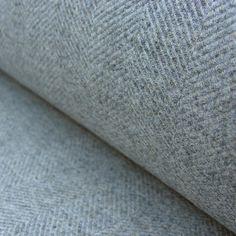 fabric for chair - Wool Herringbone Curtain Fabric Storm Grey