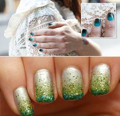 sponging nail polish gradients tutorials