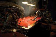 Bar billar aliens vs predator