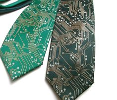Circuit board ties. For when you want to look classy and nerdy at the same time.