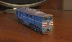 2TE116, a broad gauge double diesel locomotive manufactured by Luhanskteplovoz, used extensively to haul heavy freight trains in the Soviet Union and its successor states, particularly by RZD, the papercraft is created by Alexandrlion and Alexandr87, and the scale is in 1:87 (H0)