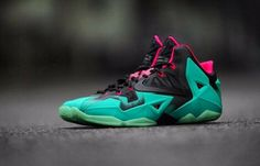 Authentic Nike Lebron 11 South Beach  for sale online free shipping. http://www.retrowhite.com/