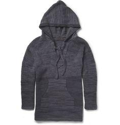 super popular a2bb1 6da9d The Elder Statesman   Gray Baja Hooded Cashmere Sweater for Men   Lyst