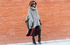 Waxed Trousers PANTS Buylevard , PONCHO Zara Old, JUMPER Zara Old, DRESS StyleNanda, SHOES Ebay, SUNGLASSES Celine, GANTS Zara