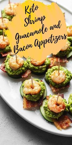 These keto appetizers will be a low carb fan favorite this football season! This buttery shrimp with savory bacon is not your average finger food! This creamy guacamole appetizer will be the top pick for a crowd at the football watch party! They'll never know it's keto friendly!
