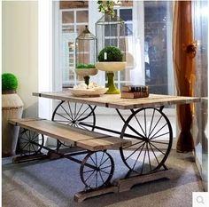 tavolo legno grezzo e ferro - Cerca con Google