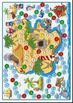 Bordspel Piraten: Spelbord - Er horen materialen bij als munten & opdrachten