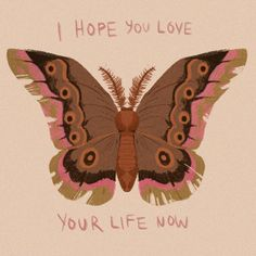 i hope you love your life now Happy Words, Wise Words, Pretty Words, Beautiful Words, Jim Morrison, Infp, Love Your Life, Illustration, Me Quotes