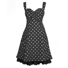 """Ecouture by Lund - Norah - kjole i økologisk, bomuld, prikket - Got this one from my boyfriend for my birthday. Call it my """"happy Dress"""" :-D Lund, My Boyfriend, Polka Dot Top, Black And White, My Style, Pretty, Outfits, Clothes, Vintage"""