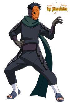 Render Tobi by Marcinha20 Madara Uchiha, Naruto Shippuden Anime, Anime Naruto, Anime Guys, Akatsuki, Tobi Cosplay, Boruto, Chibi, Naruto Mobile