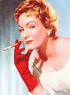 Cigaret pause ... (top til bund) Marilyn Monroe / Senta Berger / Ruth Leuwerik / Susan HAYWARD / Anita Ekberg / Ava Gardner / Gina Lollobrigida / Michèle MERCIER