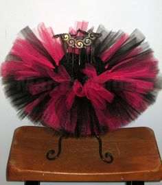 Fuchsia And Black Pink and Black  Tutu sizes by mamamadebows, $16.00+