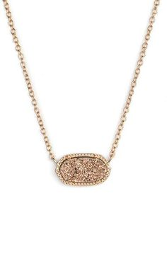 In love with this delicate pendant necklace - Wanting it in rose gold and all 20 other colors! It's small, versatile and perfect for layering or wearing solo.