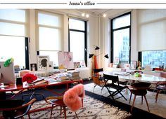 Jenna Lyons office (image via. j.crew.tumblr)