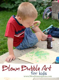 Bubble craft for kids!