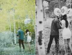 engaged. balloons.