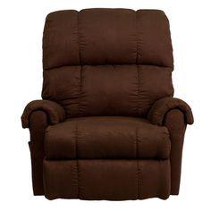Andover Mills Elsworth Flatsuede Microfiber Rocker Recliner Upholstery: Chocolate