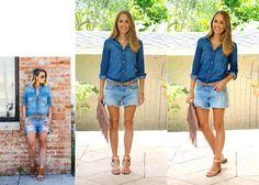 Boyfriend Shorts + Jean on Jean