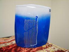 "6"" Hadeland Norway Blue 'Aqua' Range Glass Vase Maud Gjeruldsen Bugge Design | eBay"