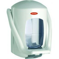 Dosificador jabón con pulsador de codo, capacidad 0.9 Litros.