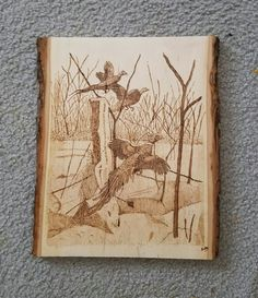 Another pheasant wood burning I did!