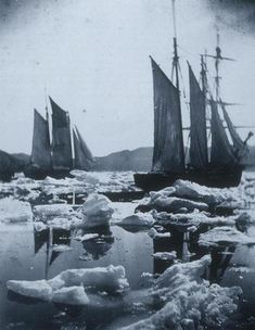 John Dunmore, Sailing Ships in an ice field (1869). Via Tumblr.