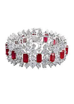 3149a2462e924 Ruby with diamonds bracelet Ruby Bracelet