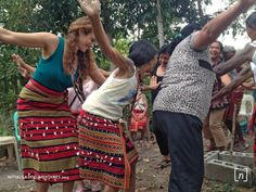 Jaycee learning the Kalinga dance.