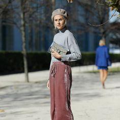 Linda tops #ZARA pants #ZARA bag #GUCCI hat #GUCCI #fashionsnapcom #fashionsnap #streetsnap #paris by fashionsnapcom